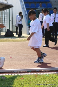 boy in a walk race