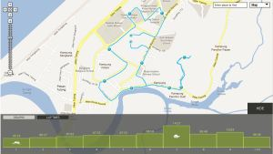 endomondo map of my 10 km Run