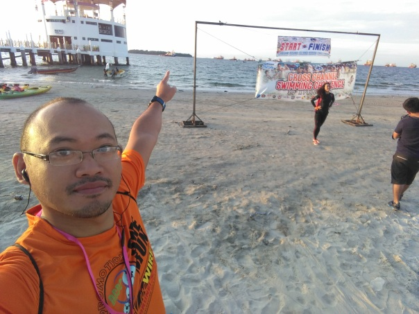 labuan cross channel swim 2017 start
